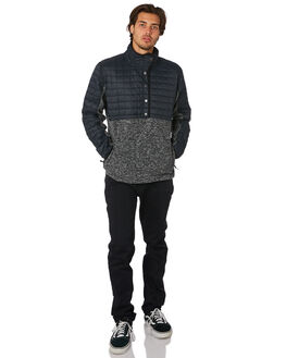 BLACK HEATHER MENS CLOTHING QUIKSILVER JUMPERS - EQYKT03726KVJH