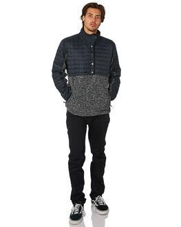 BLACK HEATHER MENS CLOTHING QUIKSILVER JUMPERS - EQYKT03726KVJH