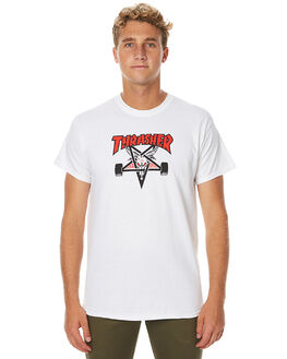 WHITE MENS CLOTHING THRASHER TEES - 311177WHT