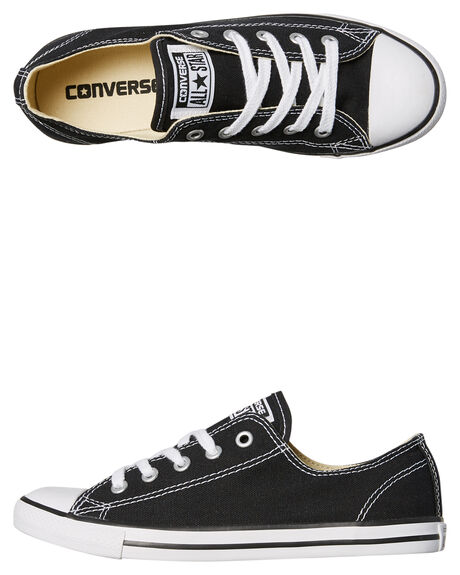 bef18ecfd110 Converse Chuck Taylor Womens All Star Dainty Lo Shoe - Black ...