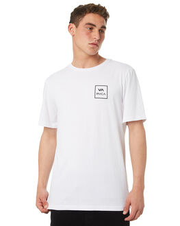 WHITE MENS CLOTHING RVCA TEES - R172062WHT