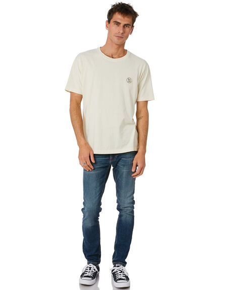 DUSTY WHITE MENS CLOTHING NUDIE JEANS CO TEES - 131680W41