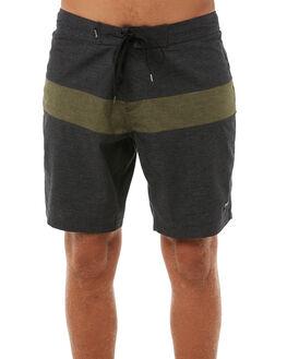 BLACK DUSTY OLIVE MENS CLOTHING AFENDS BOARDSHORTS - M181300BKOLI