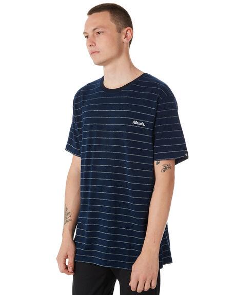 NAVY MENS CLOTHING AFENDS TEES - M182027NAVY