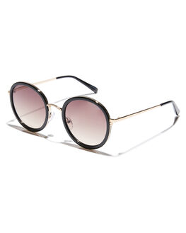 BLACK BROWN WOMENS ACCESSORIES QUAY EYEWEAR SUNGLASSES - QW-000411BLKBR