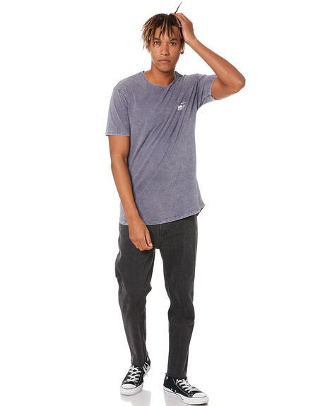 DENIM BLUE MENS CLOTHING SILENT THEORY TEES - 4074003DEN