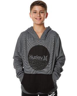 BLACK KIDS BOYS HURLEY JUMPERS - ABFLSIG00A