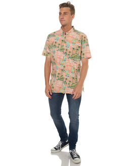 PEACH SUNSET MENS CLOTHING BARNEY COOLS SHIRTS - 328-MC3IPSNST