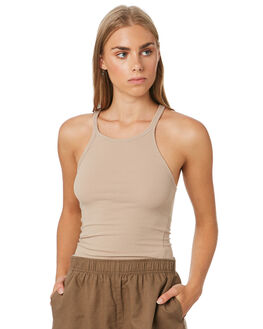 TAUPE WOMENS CLOTHING NUDE LUCY SINGLETS - NU23737TAUPE