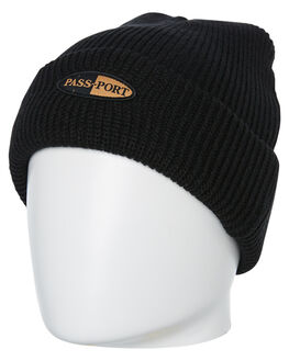 BLACK MENS ACCESSORIES PASS PORT HEADWEAR - PPPHARMBBLK