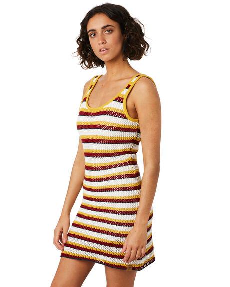 MULTI WOMENS CLOTHING SANTA CRUZ DRESSES - SC-WKD9988MULTI