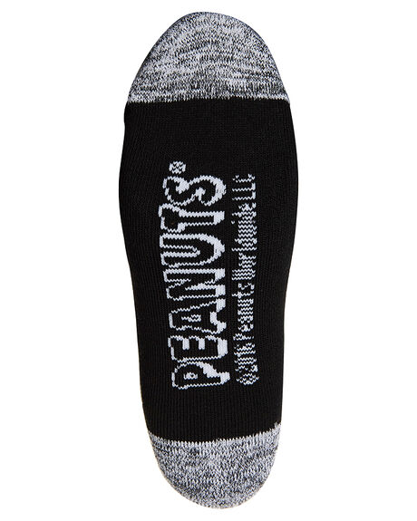 BLACK MENS ACCESSORIES HUF SOCKS + UNDERWEAR - SK75301BLK