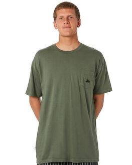 SLATE GREEN MENS CLOTHING STUSSY TEES - ST082001SLTGN