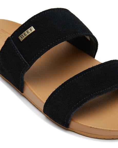 BLACK WOMENS FOOTWEAR REEF SLIDES - A30YNBLA