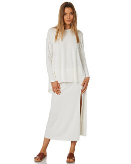WARM WHITE WOMENS CLOTHING ZULU AND ZEPHYR SKIRTS - ZZ2399WWHT
