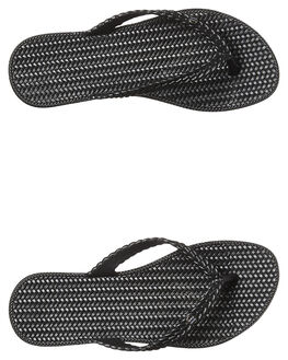 BLACK WOMENS FOOTWEAR BILLABONG THONGS - 6661863BLK