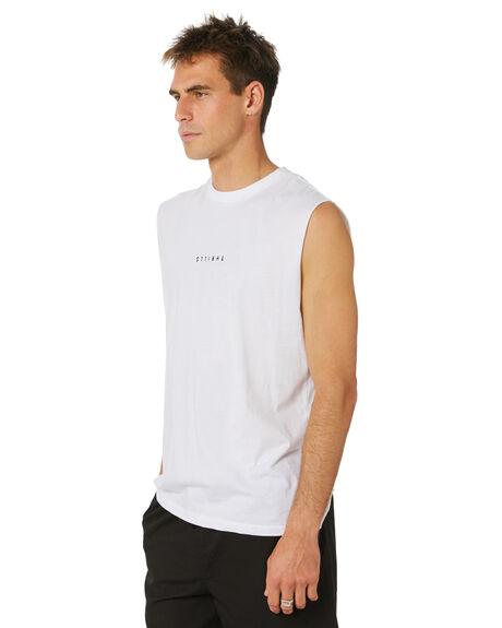 WHITE MENS CLOTHING THRILLS SINGLETS - TH20-108AWHT