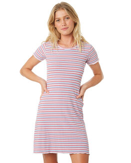 RED BLUE WHITE WOMENS CLOTHING ALL ABOUT EVE DRESSES - 6426006STR