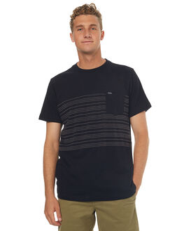 BLACK MENS CLOTHING VOLCOM TEES - A0141702BLK