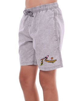 STONE GREY KIDS BOYS RUSTY SHORTS - WKB0292SOG