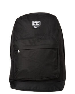 BLACK MENS ACCESSORIES OBEY BAGS + BACKPACKS - 100010096BLK
