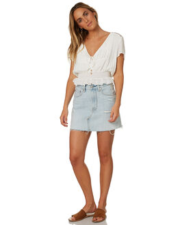 WHITE WOMENS CLOTHING SOMEDAYS LOVIN FASHION TOPS - IL18F2421WHT