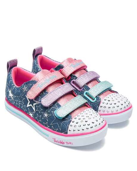 DENIM KIDS GIRLS SKECHERS SNEAKERS - 314036LDMLT