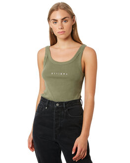 ARMY GREEN WOMENS CLOTHING THRILLS SINGLETS - WTA20-150AAGRN