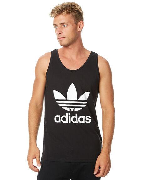 BLACK MENS CLOTHING ADIDAS ORIGINALS SINGLETS - S89178BLK