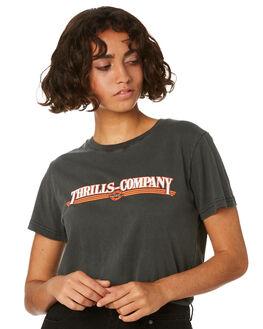 MERCH BLACK WOMENS CLOTHING THRILLS TEES - WTR8-107MBMBLK