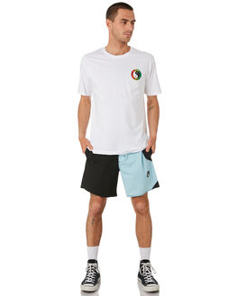 WHITE FADE OUTLET MENS TOWN AND COUNTRY TEES - TTE111FWHTFD