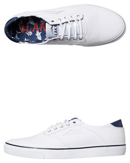 WHITE MENS FOOTWEAR LAKAI SKATE SHOES - MS217-0247-A00WHI