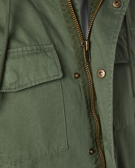 WASHED ARMY MENS CLOTHING SWELL JACKETS - S5214382WDARM