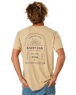 KHAKI MENS CLOTHING KATIN TEES - TSDEC01KHAKI