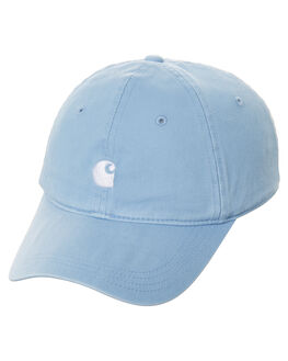 GLACIER BLUE WHITE MENS ACCESSORIES CARHARTT HEADWEAR - I022782-67490