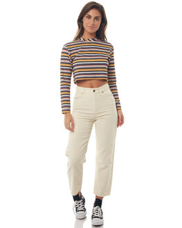 CREAM WOMENS CLOTHING AFENDS JEANS - W181452CRE