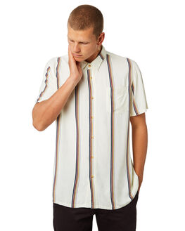 CREAM MENS CLOTHING AFENDS SHIRTS - M184202CREAM
