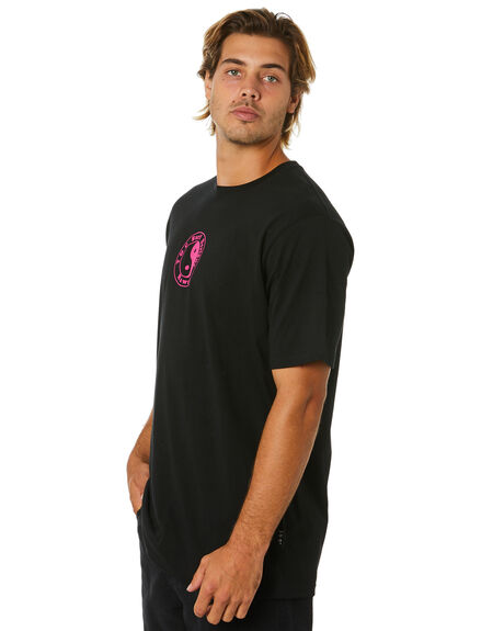 BLACK MENS CLOTHING TOWN AND COUNTRY TEES - TTE616ABLK