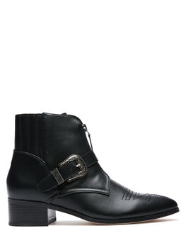 BLACK WOMENS FOOTWEAR THERAPY BOOTS - 9710BLK