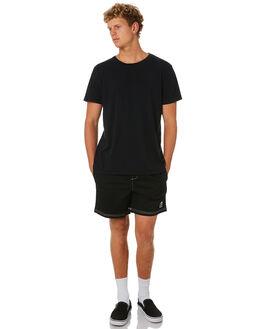 BLACK MENS CLOTHING STUSSY SHORTS - ST092602BLK