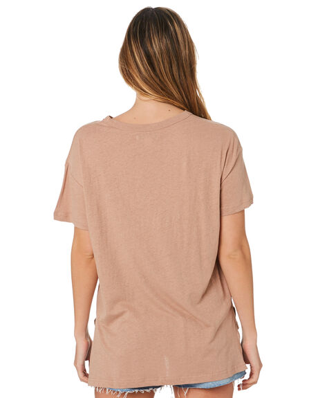 MOCHA WOMENS CLOTHING NUDE LUCY TEES - NU22801MOCHA