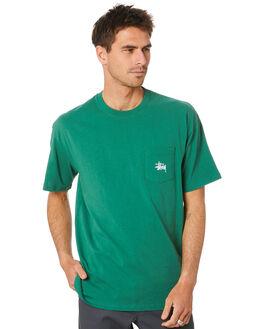 HUNTER GREEN MENS CLOTHING STUSSY TEES - ST007000HNTGR