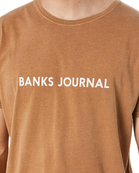 BURNT KHAKI MENS CLOTHING BANKS TEES - WTS0428BTK