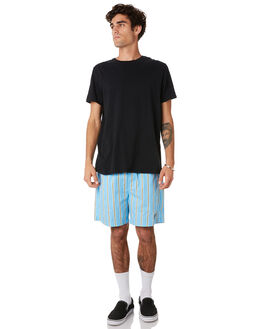 STRIPE BLUE MULTI MENS CLOTHING OBEY SHORTS - 172120044STBLU