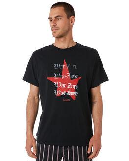 WASHED BLACK MENS CLOTHING MISFIT TEES - MT091006WBLK