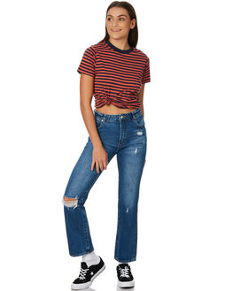 STONE CRUSH BLUE WOMENS CLOTHING ROLLAS JEANS - 125963713