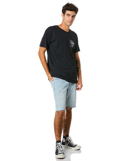 BLACK MENS CLOTHING THE LOBSTER SHANTY TEES - LBSJUNGLEBTBLK