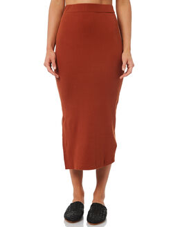RUST WOMENS CLOTHING THRILLS SKIRTS - WTH8-301HRUST