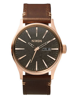 ROSE GLD GUNMET BRN MENS ACCESSORIES NIXON WATCHES - A1052001