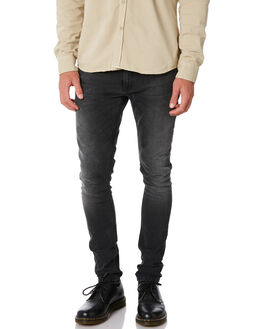 BLACK MOVEMENT MENS CLOTHING NUDIE JEANS CO JEANS - 112737BLKMO